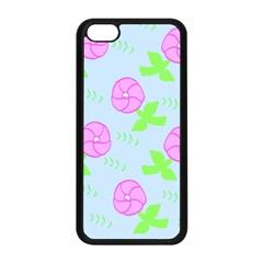 Spring Flower Tulip Floral Leaf Green Pink Apple Iphone 5c Seamless Case (black) by Alisyart