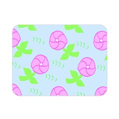 Spring Flower Tulip Floral Leaf Green Pink Double Sided Flano Blanket (mini)  by Alisyart