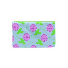 Spring Flower Tulip Floral Leaf Green Pink Cosmetic Bag (xs) by Alisyart