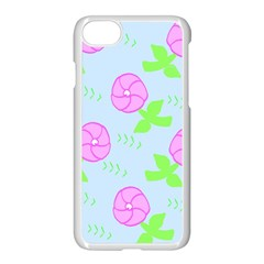 Spring Flower Tulip Floral Leaf Green Pink Apple Iphone 7 Seamless Case (white) by Alisyart
