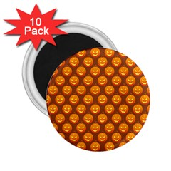 Pumpkin Face Mask Sinister Helloween Orange 2 25  Magnets (10 Pack)  by Alisyart