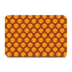 Pumpkin Face Mask Sinister Helloween Orange Plate Mats by Alisyart