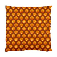 Pumpkin Face Mask Sinister Helloween Orange Standard Cushion Case (two Sides) by Alisyart