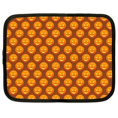 Pumpkin Face Mask Sinister Helloween Orange Netbook Case (xxl)  by Alisyart