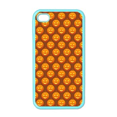 Pumpkin Face Mask Sinister Helloween Orange Apple Iphone 4 Case (color) by Alisyart