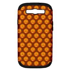 Pumpkin Face Mask Sinister Helloween Orange Samsung Galaxy S Iii Hardshell Case (pc+silicone) by Alisyart