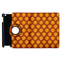 Pumpkin Face Mask Sinister Helloween Orange Apple Ipad 3/4 Flip 360 Case by Alisyart