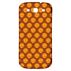 Pumpkin Face Mask Sinister Helloween Orange Samsung Galaxy S3 S Iii Classic Hardshell Back Case