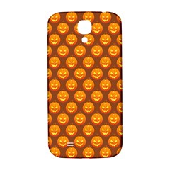 Pumpkin Face Mask Sinister Helloween Orange Samsung Galaxy S4 I9500/i9505  Hardshell Back Case