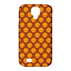 Pumpkin Face Mask Sinister Helloween Orange Samsung Galaxy S4 Classic Hardshell Case (pc+silicone)