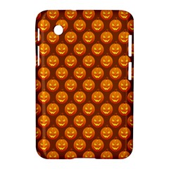 Pumpkin Face Mask Sinister Helloween Orange Samsung Galaxy Tab 2 (7 ) P3100 Hardshell Case  by Alisyart