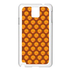 Pumpkin Face Mask Sinister Helloween Orange Samsung Galaxy Note 3 N9005 Case (white) by Alisyart