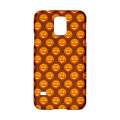 Pumpkin Face Mask Sinister Helloween Orange Samsung Galaxy S5 Hardshell Case  by Alisyart