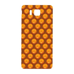 Pumpkin Face Mask Sinister Helloween Orange Samsung Galaxy Alpha Hardshell Back Case by Alisyart