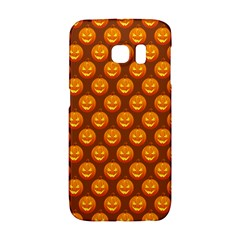 Pumpkin Face Mask Sinister Helloween Orange Galaxy S6 Edge by Alisyart