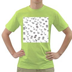 Flower Grey Jpeg Green T Shirt by Alisyart