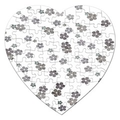 Flower Grey Jpeg Jigsaw Puzzle (heart)