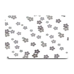 Flower Grey Jpeg Plate Mats
