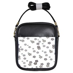Flower Grey Jpeg Girls Sling Bags