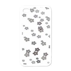 Flower Grey Jpeg Apple Iphone 4 Case (white) by Alisyart