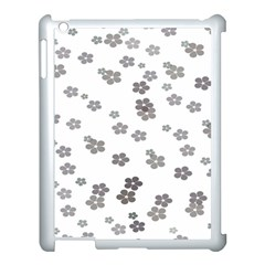 Flower Grey Jpeg Apple Ipad 3/4 Case (white) by Alisyart
