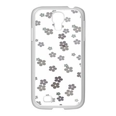 Flower Grey Jpeg Samsung Galaxy S4 I9500/ I9505 Case (white) by Alisyart