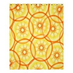 Lemons Orange Lime Circle Star Yellow Shower Curtain 60  X 72  (medium)  by Alisyart