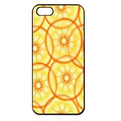 Lemons Orange Lime Circle Star Yellow Apple Iphone 5 Seamless Case (black) by Alisyart