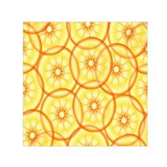 Lemons Orange Lime Circle Star Yellow Small Satin Scarf (square) by Alisyart