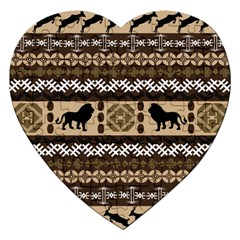 African Vector Patterns  Jigsaw Puzzle (heart) by Amaryn4rt