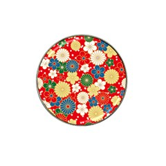 Season Flower Rose Sunflower Red Green Blue Hat Clip Ball Marker (10 pack) by Alisyart