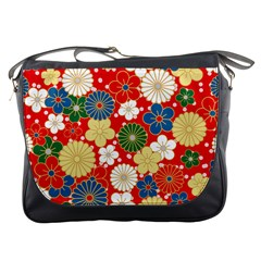Season Flower Rose Sunflower Red Green Blue Messenger Bags by Alisyart