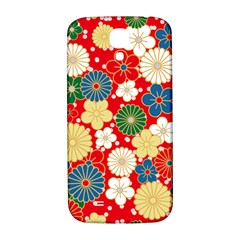 Season Flower Rose Sunflower Red Green Blue Samsung Galaxy S4 I9500/i9505  Hardshell Back Case