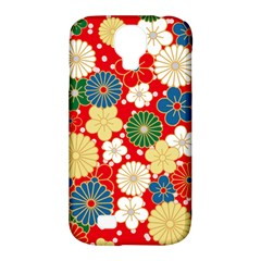 Season Flower Rose Sunflower Red Green Blue Samsung Galaxy S4 Classic Hardshell Case (pc+silicone)