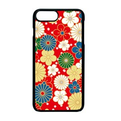Season Flower Rose Sunflower Red Green Blue Apple Iphone 7 Plus Seamless Case (black) by Alisyart