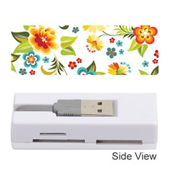 Flower Floral Rose Sunflower Leaf Color Memory Card Reader (stick)  by Alisyart