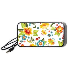 Flower Floral Rose Sunflower Leaf Color Portable Speaker (black) by Alisyart