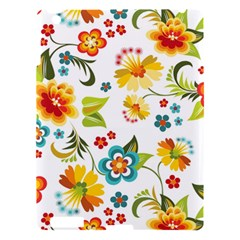 Flower Floral Rose Sunflower Leaf Color Apple Ipad 3/4 Hardshell Case by Alisyart