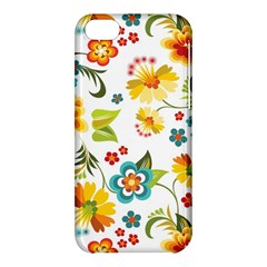 Flower Floral Rose Sunflower Leaf Color Apple Iphone 5c Hardshell Case by Alisyart
