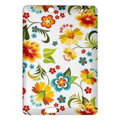 Flower Floral Rose Sunflower Leaf Color Amazon Kindle Fire Hd (2013) Hardshell Case by Alisyart