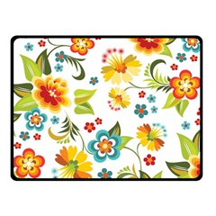 Flower Floral Rose Sunflower Leaf Color Double Sided Fleece Blanket (small)  by Alisyart