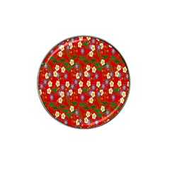 Red Flower Floral Tree Leaf Red Purple Green Gold Hat Clip Ball Marker (10 Pack) by Alisyart