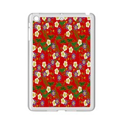 Red Flower Floral Tree Leaf Red Purple Green Gold Ipad Mini 2 Enamel Coated Cases by Alisyart