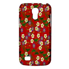 Red Flower Floral Tree Leaf Red Purple Green Gold Galaxy S4 Mini by Alisyart