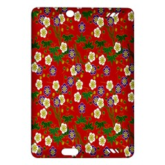 Red Flower Floral Tree Leaf Red Purple Green Gold Amazon Kindle Fire Hd (2013) Hardshell Case by Alisyart