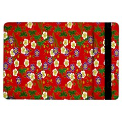 Red Flower Floral Tree Leaf Red Purple Green Gold Ipad Air Flip by Alisyart