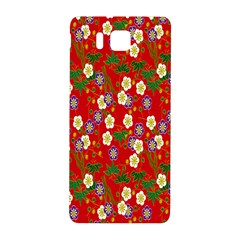 Red Flower Floral Tree Leaf Red Purple Green Gold Samsung Galaxy Alpha Hardshell Back Case by Alisyart