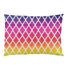 Colorful Rainbow Moroccan Pattern Pillow Case by Amaryn4rt