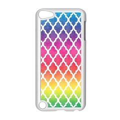 Colorful Rainbow Moroccan Pattern Apple Ipod Touch 5 Case (white) by Amaryn4rt
