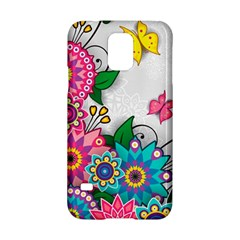 Flowers Pattern Vector Art Samsung Galaxy S5 Hardshell Case  by Amaryn4rt